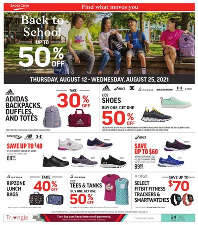 Sport Chek Back to School Flyer August 12 to 25