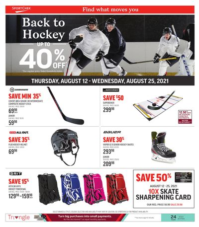 Sport Chek Back to Hockey Flyer August 12 to 25