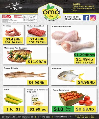 Oma Fresh Foods Flyer August 13 to 19