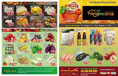 Famijoy Supermarket Flyer August 13 to 19