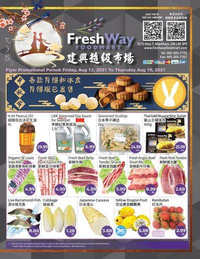 FreshWay Foodmart Flyer August 13 to 19