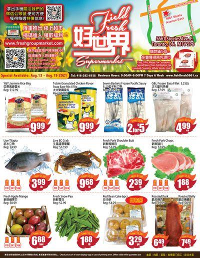 Field Fresh Supermarket Flyer August 13 to 19