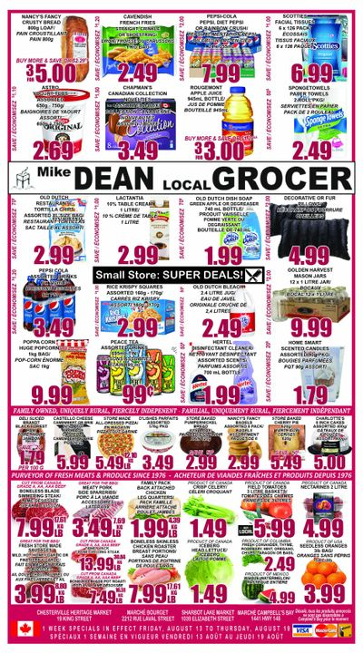 Mike Dean's Super Food Stores Flyer August 13 to 19