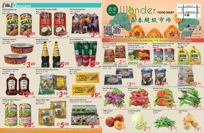 Wonder Food Mart Flyer August 13 to 19