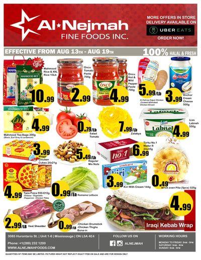 Alnejmah Fine Foods Inc. Flyer August 13 to 19