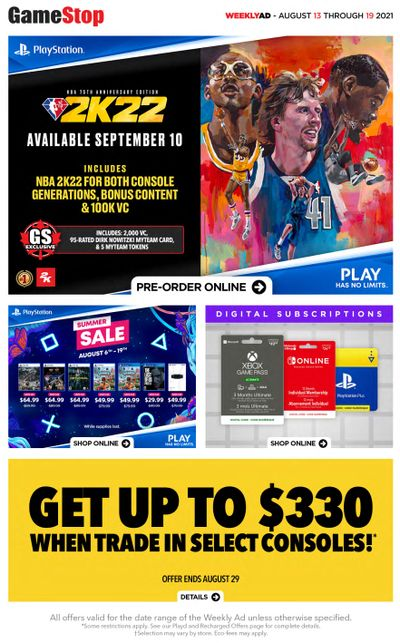 EB Games Flyer August 13 to 19