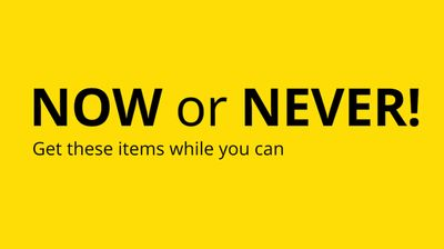 IKEA Canada Last Chance Now or Never Sale
