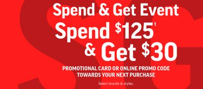 Sport Chek Canada Spend & Get Event: Get $30 Promo Credit when you Spend $125 + Back To School Deals + More Deals