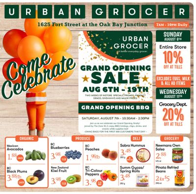 Urban Grocer Flyer August 13 to 19