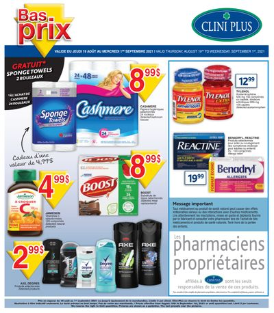 Clini Plus Flyer August 19 to September 1
