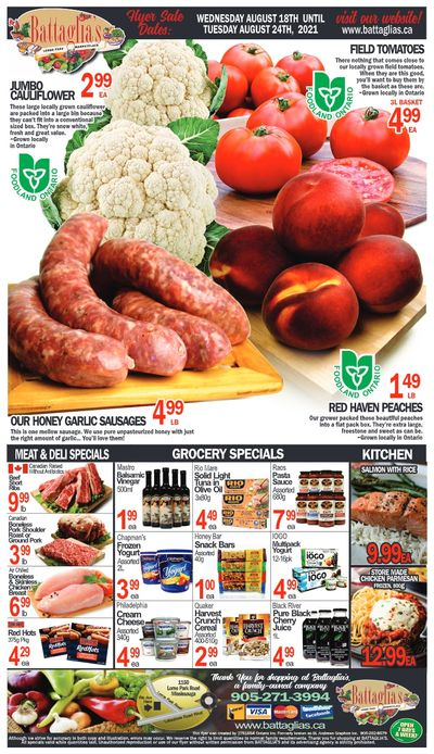 Battaglia's Marketplace Flyer August 18 to 24