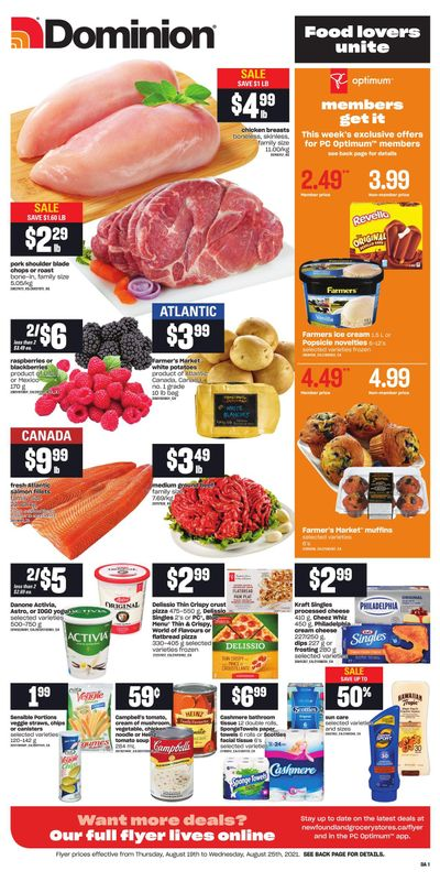 Dominion Flyer August 19 to 25