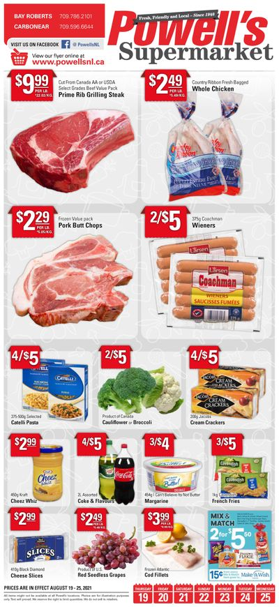 Powell's Supermarket Flyer August 19 to 25