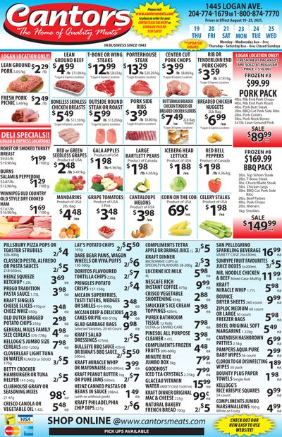 Cantor's Meats Flyer August 19 to 25