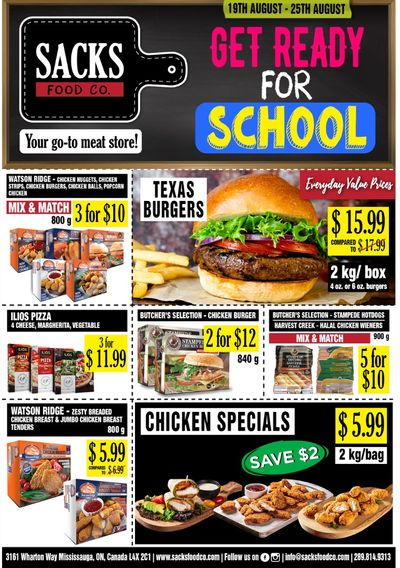 Sacks Food Co. Flyer August 19 to 25