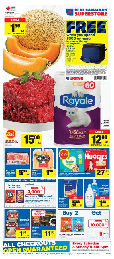 Real Canadian Superstore (West) Flyer August 20 to 26