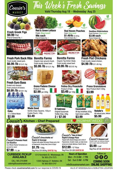 Cousin's Market Flyer August 19 to 25