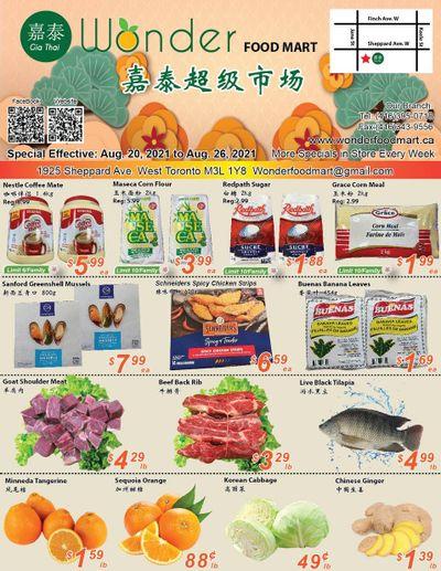 Wonder Food Mart Flyer August 20 to 26