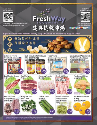FreshWay Foodmart Flyer August 20 to 26