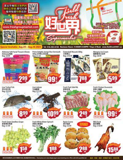 Field Fresh Supermarket Flyer August 20 to 26