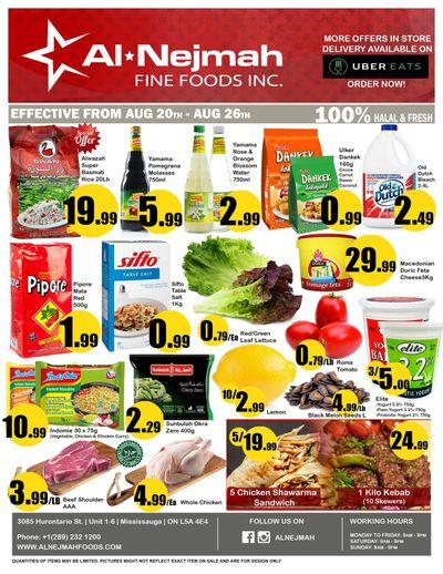 Alnejmah Fine Foods Inc. Flyer August 20 to 26