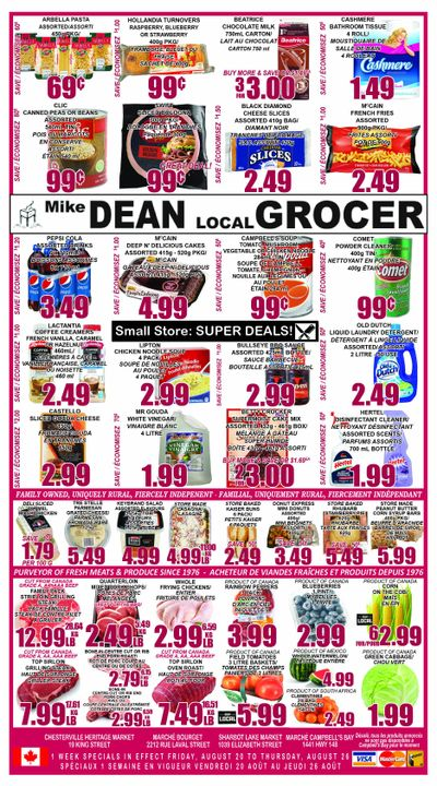 Mike Dean's Super Food Stores Flyer August 20 to 26