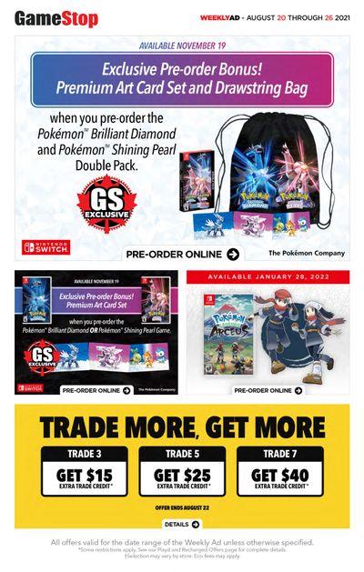 GameStop Flyer August 20 to 26