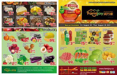 Famijoy Supermarket Flyer August 20 to 26