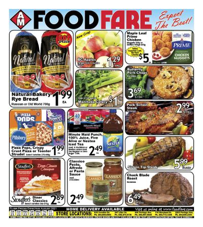 Food Fare Flyer August 21 to 27