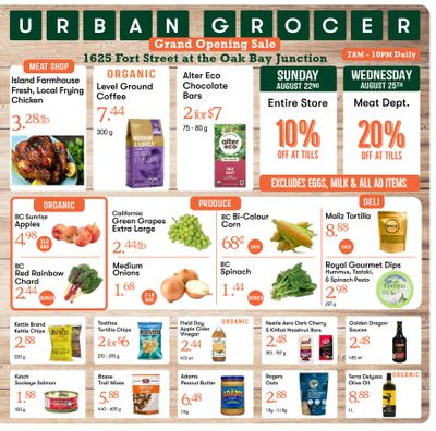 Urban Grocer Flyer August 20 to 26