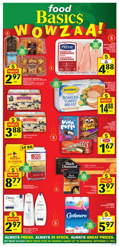 Food Basics Flyer August 26 to September 1