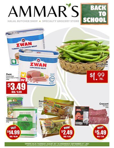 Ammar's Halal Meats Flyer August 26 to September 1