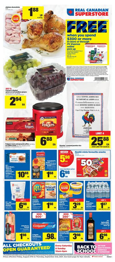 Real Canadian Superstore (West) Flyer August 27 to September 2