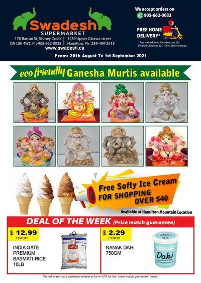 Swadesh Supermarket Flyer August 26 to September 1