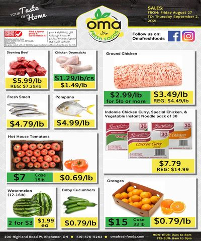 Oma Fresh Foods Flyer August 27 to September 2