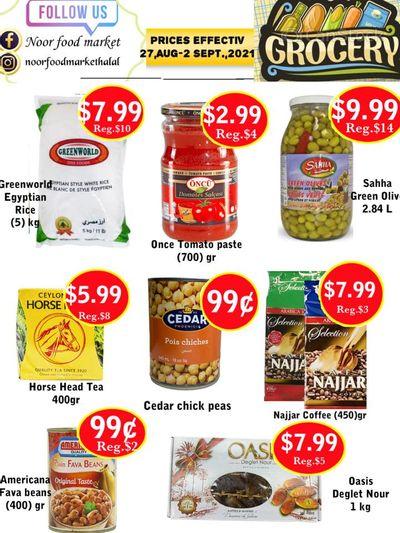 Noor Food Market Flyer August 27 to September 2