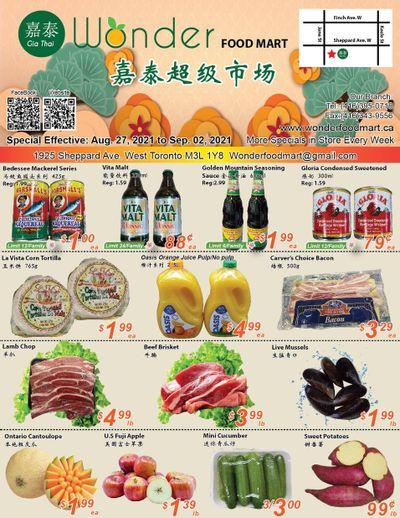 Wonder Food Mart Flyer August 27 to September 2