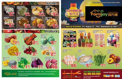 Famijoy Supermarket Flyer August 27 to September 2