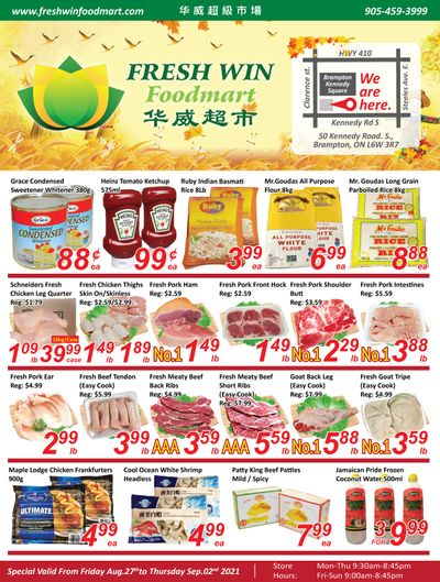 Fresh Win Foodmart Flyer August 27 to September 2