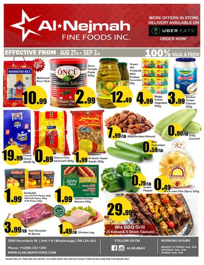 Alnejmah Fine Foods Inc. Flyer August 27 to September 2