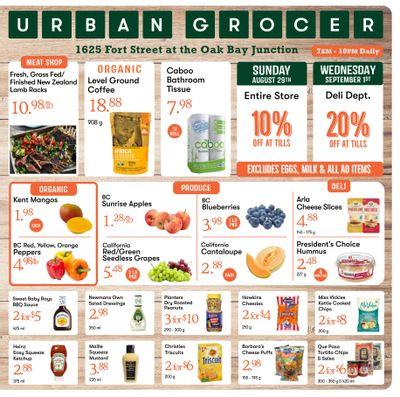 Urban Grocer Flyer August 27 to September 2