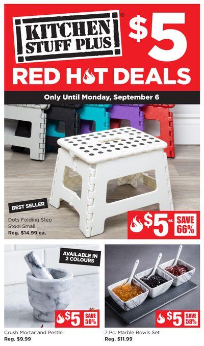 Kitchen Stuff Plus Red Hot Deals Flyer August 30 to September 6