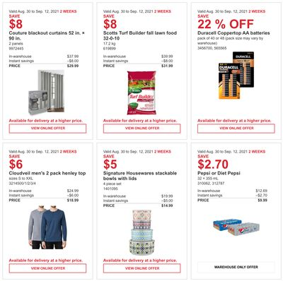 Costco Canada More Savings Weekly Coupons/Flyers for: Quebec, until September 12