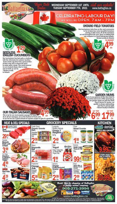 Battaglia's Marketplace Flyer September 1 to 7
