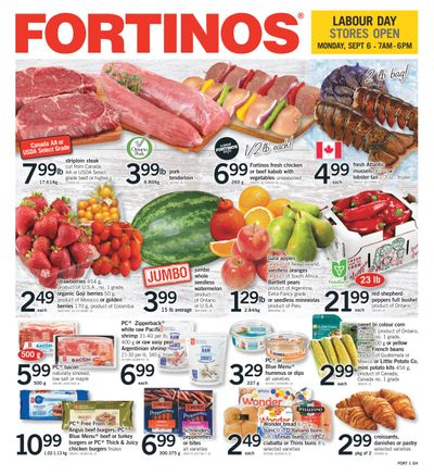 Fortinos Flyer September 2 to 8