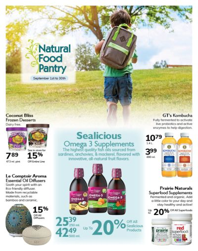 Natural Food Pantry Flyer September 1 to 30