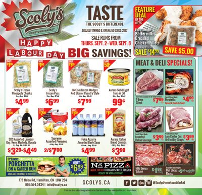 Scoly's Hometown Market Flyer September 2 to 8