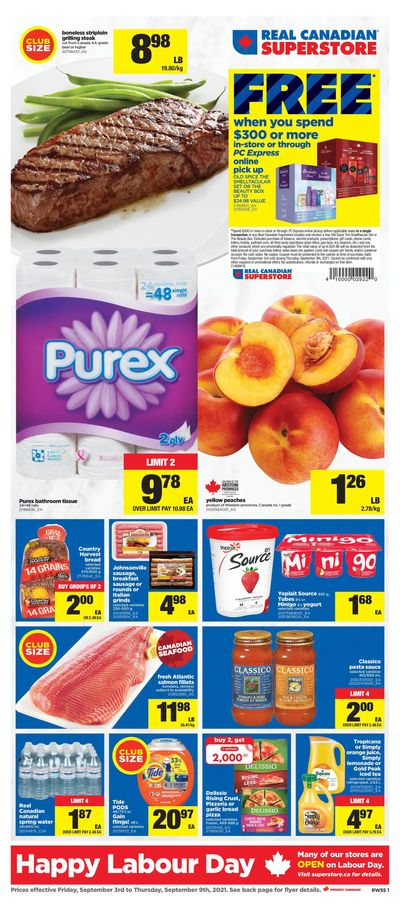 Real Canadian Superstore (West) Flyer September 3 to 9