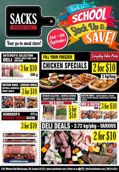 Sacks Food Co. Flyer September 2 to 8