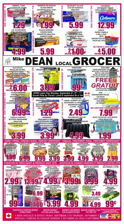 Mike Dean Local Grocer Flyer September 3 to 9
